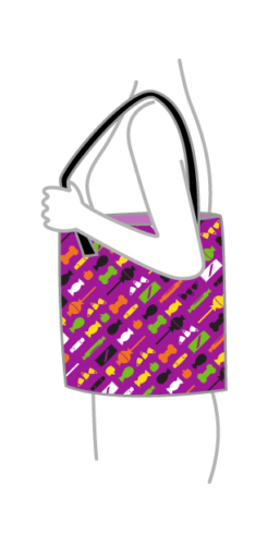 Halloween Candy Print – Diagonal On Bag